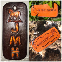 Load image into Gallery viewer, Design Options - Custom Standard Leather Key Ring