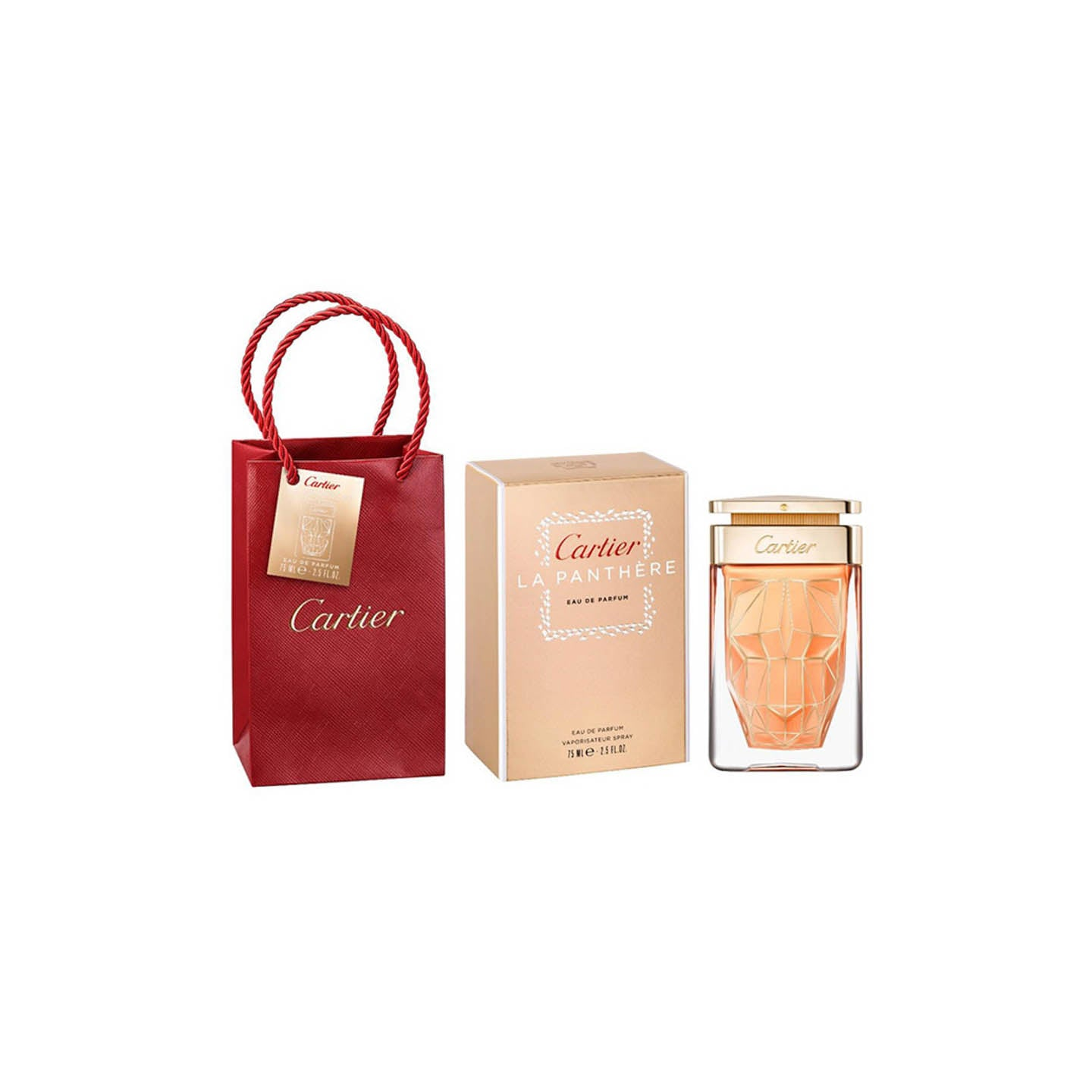 Cartier La Panthere Legere & red bag