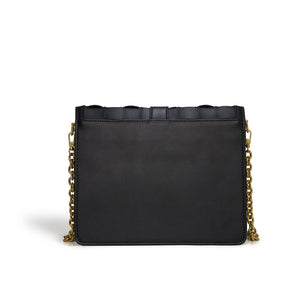 LaBante London Daisy Black Vegan Shoulder & Crossbody Bag