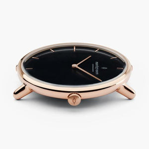 Nordgreen Native | Black Dial - Rose Gold