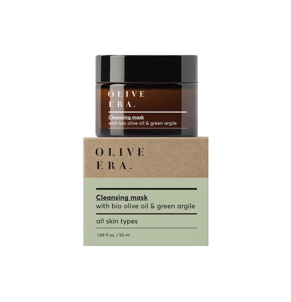 Olive Era Cleansing Mask with bio olive oil & green argile Μάσκα προσώπου