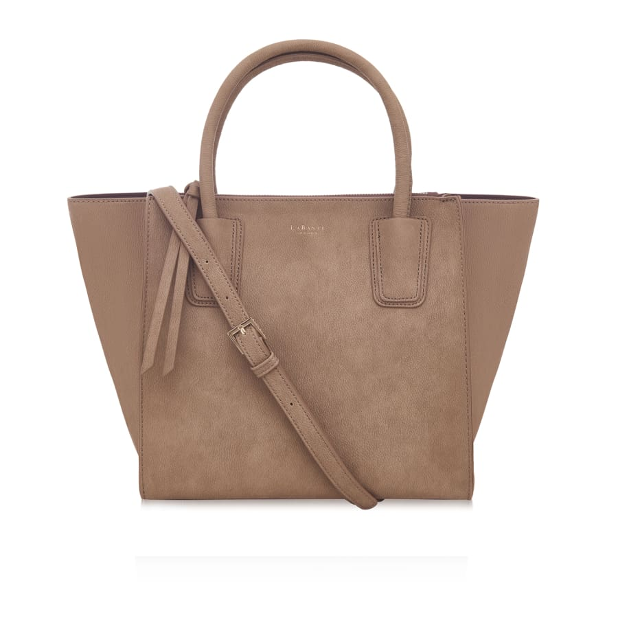Demi Brown Vegan Winged Tote Bag
