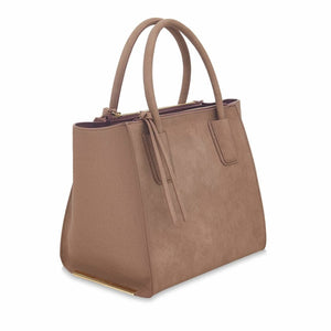 Demi Brown Vegan Leather Tote Bag