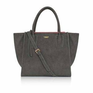 Demi Grey Vegan Winged Tote Bag