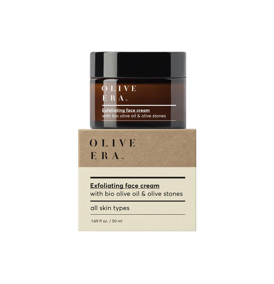 Olive Era Exfoliating face cream with bio olive oil & olive stones Απολεπιστική κρέμα προσώπου