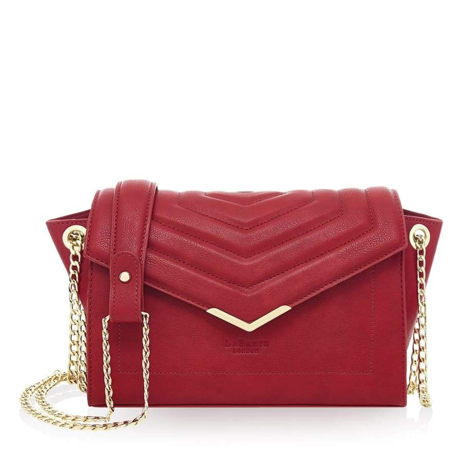 Kensington Red Vegan Cross-Body Bag