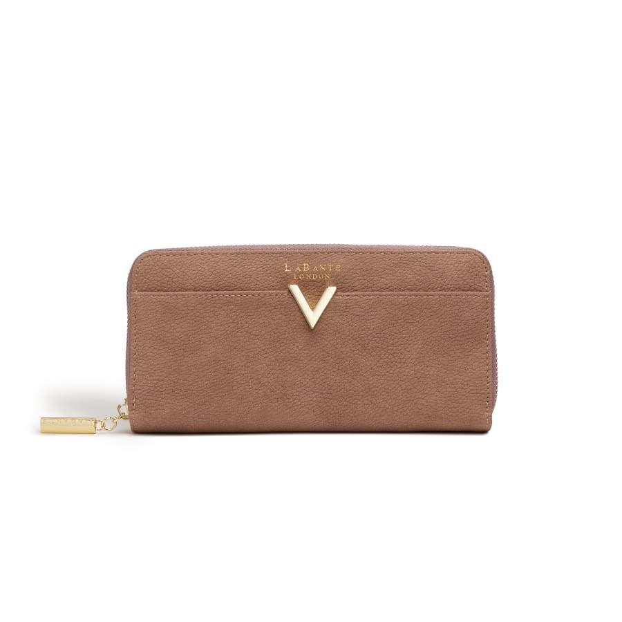 Kindness Brown Vegan Two-Tone Wallet
