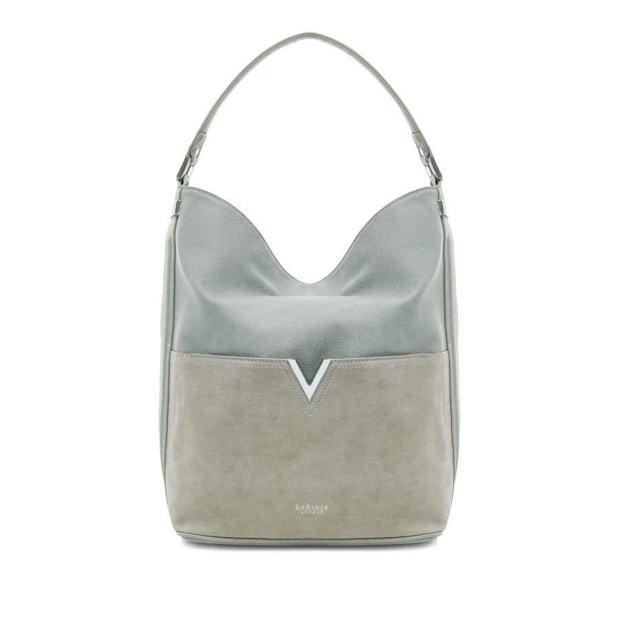 Tia Grey Vegan Hobo Bag