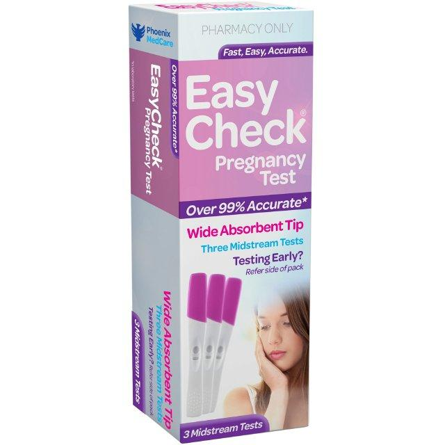 EASYCHECK Pregnancy Test 3 Pack Purple