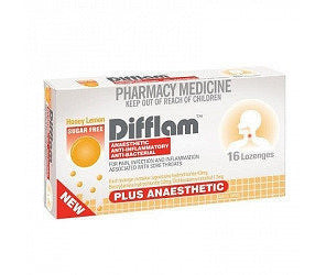 Difflam Anaesthetic Sore Throat Lozenges Honey Lemon