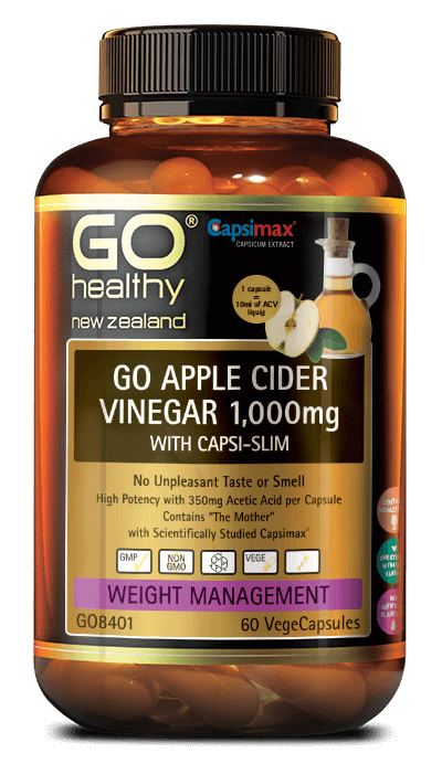 Go Healthy Go Apple Cider Vinegar 1000mg with Capsi Slim 60's
