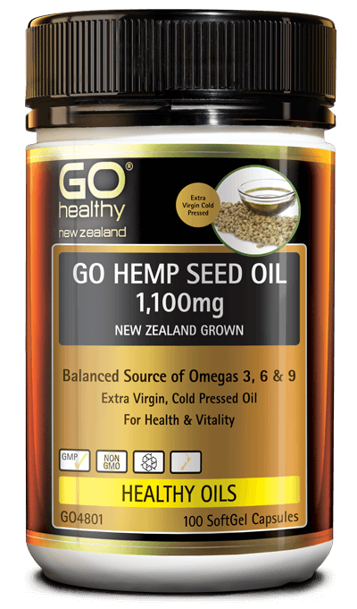 Go Healthy Go Hemp Seed Oil 100 Softgel Capsules