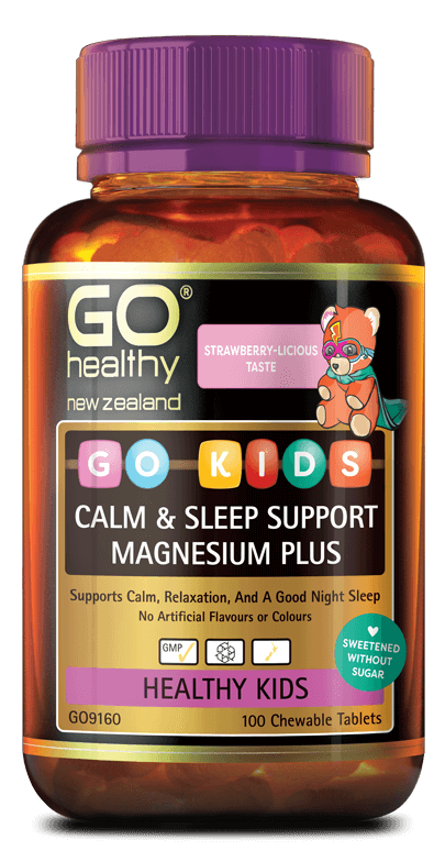 Go Healthy Go Kids Calm and Sleep Magnesium+ 100 Chewable Tablets