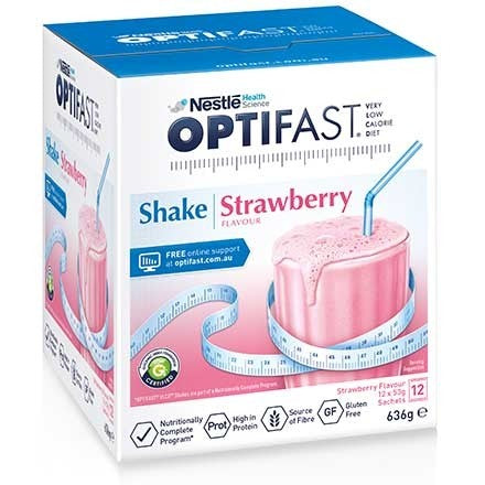 Optifast Shake Strawberry 12