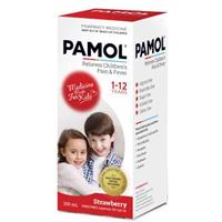 Pamol Suspension All Ages Colour Free Strawberry 200mL