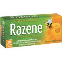 Razene 10mg Tablets 30 OTC Pack