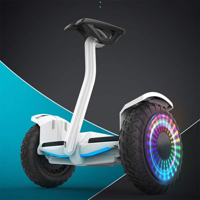 Electric Self-balancing Scooter With Lever