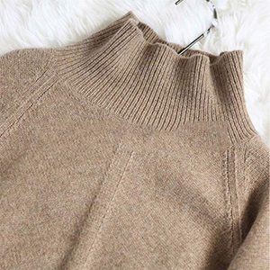 Autumn and Winter New Cashmere Sweater Women's High-Necked Pullover Loose Thick Sweater