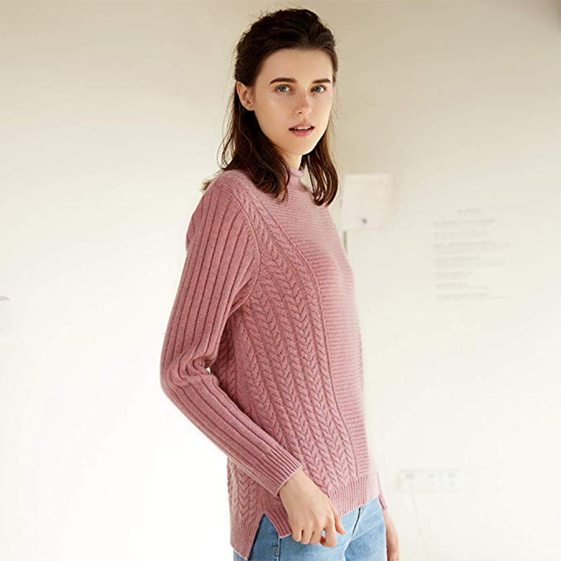 Autumn Winter Womens Sleeve Long Cashmere Sweater