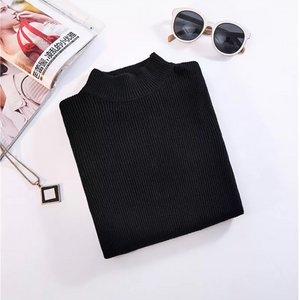New-coming Autumn Winter Turtleneck Pullovers Sweaters Primer shirt long sleeve Short Korean Slim-fit tight sweater