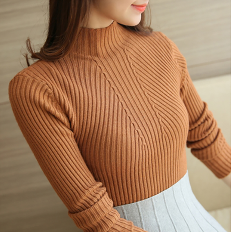 Turtleneck Sweater Women Fashion 2019 Autumn Winter Black Tops Women Knitted Pullovers Long Sleeve Jumper Pull Femme Clothing