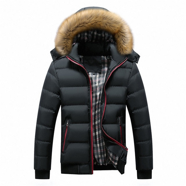 Fur Collar Winter Jackets Thick Hooded