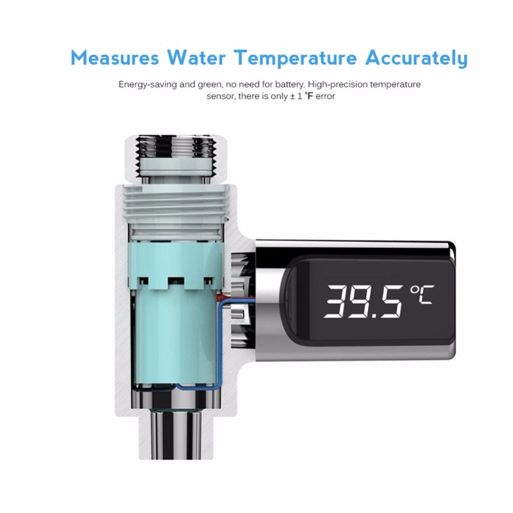 LED Water Temperature Meter (NO Battery)
