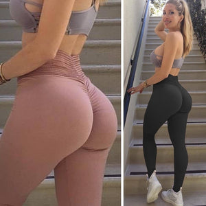 Women Fashion Solid Color Shapewear Slim Fit High Waisted Leggings Skinny Pants Trousers Compression Slim Butt Lifter Leggings