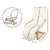 Artiss Fabric Armchair with Adjustable Footrest - Beige - Decorly