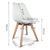 Artiss Set of 2 Padded Dining Chair - White - Decorly
