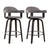 Artiss Set of 2 Bar Stools Wooden Swivel Bar Stool Kitchen Dining Chair Wood Grey