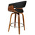 Artiss 1x Swivel Bar Stools Wooden Bar Stool Kitchen Leather Black