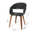 Artiss Set of 2 Timber Wood and Fabric Dining Chairs - Charcoal - Decorly