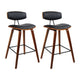 Artiss Set of 2 Bremer Bar Stools PU Leather  - Black