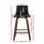 Artiss Set of 2 Kitchen Wooden Bar Stools Swivel Bar Stool Chairs Leather Luxury Black