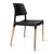 Artiss Set of 4 Wooden Stackable Dining Chairs - Black - Decorly