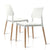 Artiss Set of 4 Wooden Stackable Dining Chairs - White - Decorly