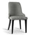Artiss Set of 2 Fabric Dining Chairs - Grey - Decorly