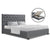 Artiss Queen Size Gas Lift Bed Frame Base With Storage Mattress Grey Fabric VILA - Decorly