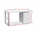Artiss Metal Desk with 3 Drawers - White - Decorly