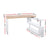 Artiss Rotary Corner Desk with Bookshelf - Brown & White - Decorly