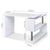Artiss Rotary Corner Desk with Bookshelf - White - Decorly