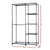 Portable Closet Organizer Storage Clothes Hanger Rail Garment Shelf Rack Black - Decorly