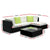 Gardeon 5PC Outdoor Furniture Sofa Set Wicker Garden Patio Pool Lounge - Decorly