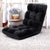 Artiss Lounge Sofa Floor Recliner Futon Chaise Folding Couch Black - Decorly