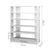 Artiss 6-Tier Shoe Rack Cabinet - White - Decorly