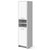 Artiss 185cm Bathroom Tallboy Toilet Storage Cabinet Laundry Cupboard Adjustable Shelf White - Decorly