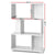 Artiss 3 Tier Zig Zag Bookshelf - White - Decorly
