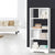 Artiss Display Shelf Bookcase Storage Cabinet Bookshelf Bookcase Home Office White - Decorly