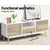 Artiss Wooden Entertainment Unit - White & Wood - Decorly